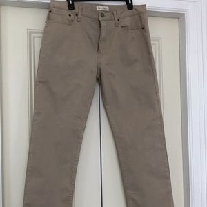 NEW Men's GAP 1969 Tan Straight Jeans Size 34x32